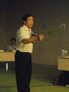 Salah satu pemateri dalam workshop JKN