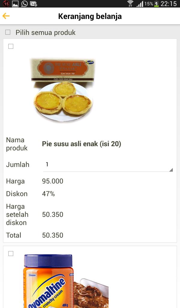 Ovomaltine dan Pie Susu yummy