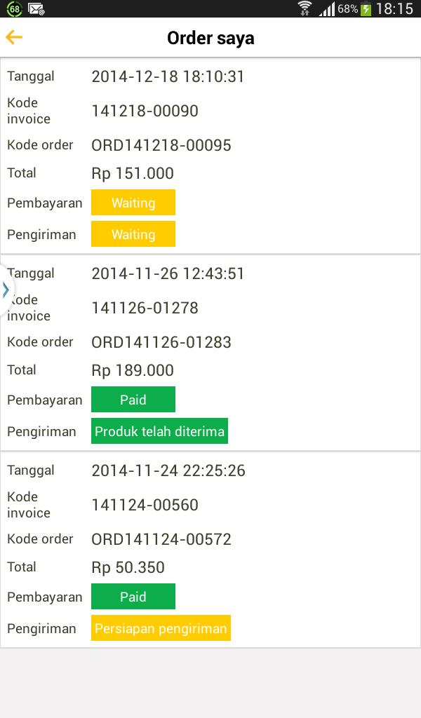 Status Order