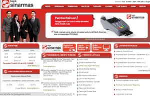 Halaman Muka website Bank Sinarmas